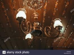 Alte Vintage Kronleuchter Lampe An Die Decke Im Speisesaal