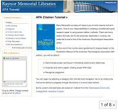 Apa Citation Tutorial Raynor Memorial Libraries Marquette