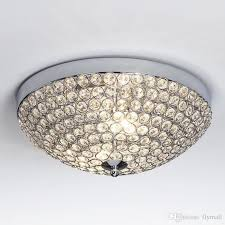 modern chrome finish ceiling lighting chandelier crystal ceiling light flush mount ceiling light suitable for bedroom living room hallway small chandeliers