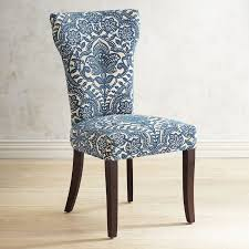 carmilla blue damask dining chair  pier  imports