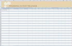 Checklist Blank Template Wedding Guest List Template Excel