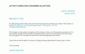 Salary Letters From Employer Salary Increase Letter Template From Employer To Employee Salary