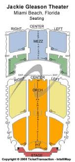 Jackie Gleason Theater Miami Seating Chart The Fillmore Miami Beach At Jackie Gleason Theater Tickets