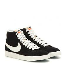 nike shoes black high tops. nike blazer mid vintage suede high-top sneakers ($115) ❤ liked on shoes black high tops