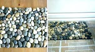 pebble bath rug mat bathroom river rock stone clear how to make a for your shower