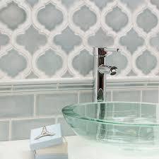 Nabi Arabesque Arctic Blue Marble And Ceramic Tile | TileBar.com