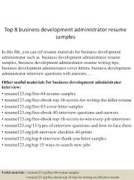 topbusinessdevelopmentadministratorresumesamples lva app thumbnail jpg cb