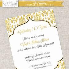 50th Wedding Invitations 60th Wedding Anniversary