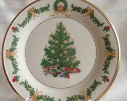 Lenox Plate Annual Christmas Tree 1982 Aleppo Pine Retired New Lenox Christmas Tree Plates