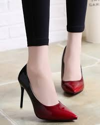 korean version of the new fashion grant color pointed high heeled shoes patent leather shallow mouth comfortable high heels