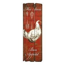 Rooster Wall Decor Kitchen Bon Appetit Rooster Wall Decor Products Bon Appetit And Roosters