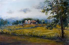 original art for at ugallery com cky farm by judy mudd 725