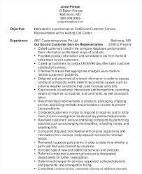 customer service representative resumes outbound customer service representative resume examples for
