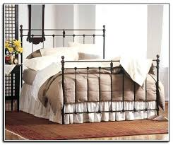 decoration: Iron Bed Frame Queen Wrought Plans All King Frames White ...