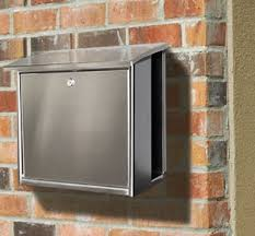 Modern wall mount mailbox Oil Rubbed Bronze Stainless Steel Modern Contemporary Wall Mount Mailbox Square Budget Mailboxes Stainless Steel Modern Wall Mount Mailboxes