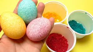 easter egg coloring. Interesting Coloring Easter Egg Coloring  Decorating With Rice DIY Shake It Video YouTube Inside E
