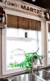 23 Best Burlap Window Treatments Images On Pinterest  Burlap Burlap Window Blinds