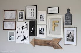 gallery wall frames attractive living room love grows wild inside 3