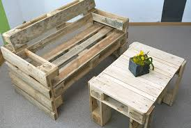 wood pallet furniture. Wood Pallet Bench And Small Table Furniture I