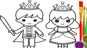 Small Picture How to Draw Little King and Queen Coloring Pages Drawing Learn