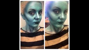 blue alien time lapse makeup