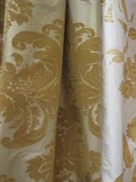 cream and gold bold print design fabric