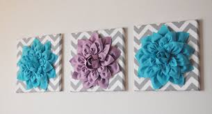 fanciful  on felt flower wall art diy with stylized flower field canvas wall art pieces canvas painting flowers