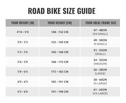 Womens Road Bike Size Chart Scott Bicycle Size Chart Www Bedowntowndaytona Com