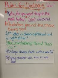 Dialogue Anchor Chart Dialogue Rules Anchor Chart 5th Grade Ela Writers