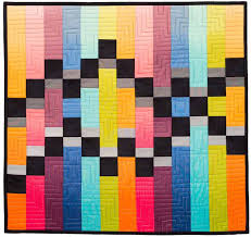 113 best Bargello quilts images on Pinterest | Auction, Ideas and ... & Merging Traffic bargello quilt pattern at Quilts by Jen Adamdwight.com