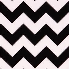 white Riley Blake knit fabric with black Chevron pattern