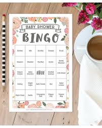 Fall Sales on Vintage Rose Baby Shower Bingo 50 Unique Game Sheets ...