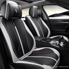 universal fit car accessories seat covers for trucks top quality pu leather five seats covers for suv for sudan full surround sporty design truck seat cover
