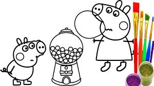 Small Picture How to Draw Peppa Pig Gumball Machine Coloring Pages Kid Drawing