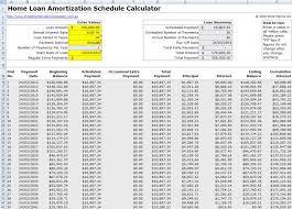 017 Loan Amortization Calculator Excel Template 5 Phenomenal