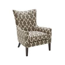Casual Contemporary Red Diamond Pattern Accent Chair - Naomi