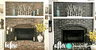 black painted brick fireplace jennifer allwood before and after