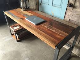 awesome reclaimed wood desks in make your office more eco friendly with a desk