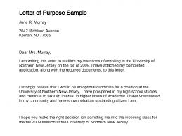 Letter Of Intent Sample Template Unique Letter Of Purpose
