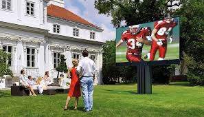 view in gallery awesome outdoor tv for the expansive outdoor home theater design via los angeles
