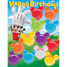 Birthday Chart Mickey Mouse Clubhouse Birthday Chart