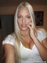 Cute blonde girlfriend with big tits Macy spreading her wonderful.