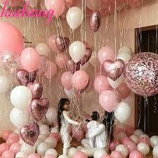 <b>12pcs</b>/lot Pink <b>Latex</b> Balloon Chrome Silver Chrome Metallic ...