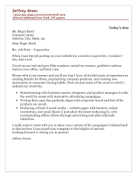 How To Write A Cover Letter For A Copywriting Job Copywriter Cover Letter Sample