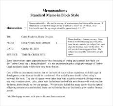 Memo Example For Business Business Memo Format Examples And Forms