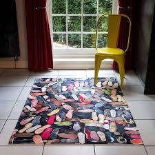 Shoe Rug Shoe Soles Patterned Rug By I Love Retro Notonthehighstreetcom