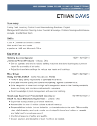 Johnsons Welded Products Welding Machine Operator Resume Sample ...