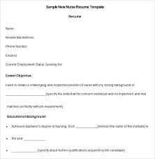 Sample Recent Graduate Resume Nursing Resume Template Free Samples