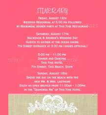 Wedding Welcome Bag Itinerary Template Note – Appswop