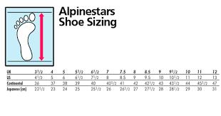 Alpinestar Tech 3 Size Chart Alpinestars Size Chart Footwear Related Keywords